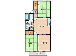 タウンKOSE2棟[2階]の間取り