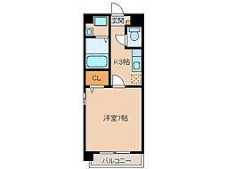 マ・メゾン小牧原 北館[2階]の間取り
