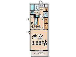 愛知県小牧市小木東1丁目の賃貸マンションの間取り