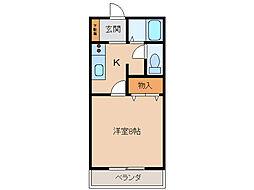 サン・friends安田IIIIII[C205号室]の間取り