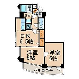 ツインズK・II[3階]の間取り