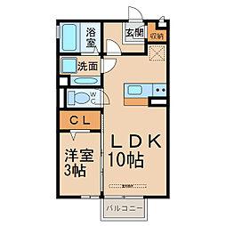 アムールハイツ B棟[2階]の間取り