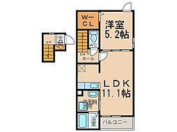 サンクチュアリーIII[2階]の間取り