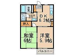 シャルマンハウス2784 A・B棟[1階]の間取り