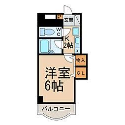 リアナ小牧アパートメント[403号室]の間取り