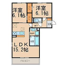 仮)舟橋様D−room(常普請)[3階]の間取り