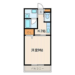 ソレアード[3階]の間取り
