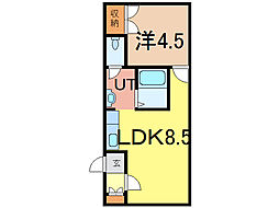 リラコートA[1階]の間取り