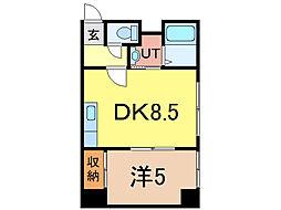 エスティ618 1階1DKの間取り