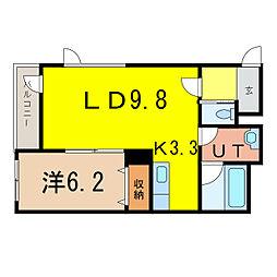 神楽4・12エコワンハウス[1階]の間取り