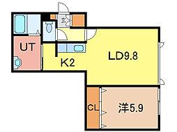グランピア3.3kagura[1階]の間取り