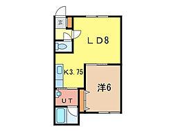 ラピスガーデン[2階]の間取り