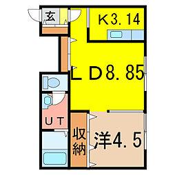 アミーコ97[1階]の間取り