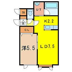 ドリームD[1階]の間取り