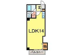 ナッツSPIRIT3[6階]の間取り