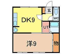 タウンズ211[1階]の間取り