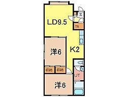 ハイツラボ[2階]の間取り