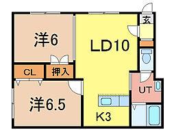 アパートメントコアラ[1階]の間取り
