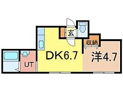 パフューム[2階]の間取り