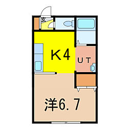ナッツSPIRIT6[1階]の間取り
