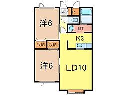 アルト1[2階]の間取り