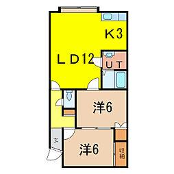 メゾンド東光[2階]の間取り