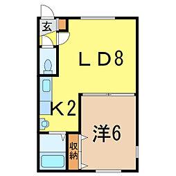 シンフォニーミキA館[1階]の間取り