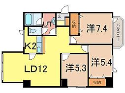 ダイメックス旭川4条ビル[3階]の間取り