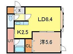 ロワールD[2階]の間取り