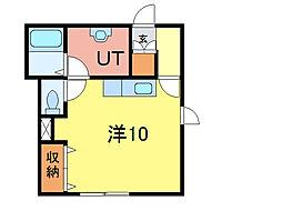 シェルト716 1階ワンルームの間取り