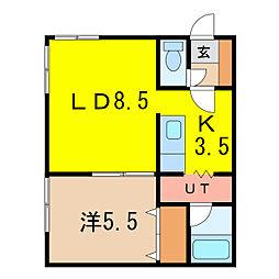 サンシャイン97[1階]の間取り