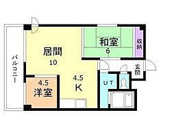 5.3ハイム[1階]の間取り