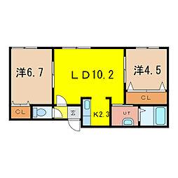 MIUNA BLDG[2階]の間取り