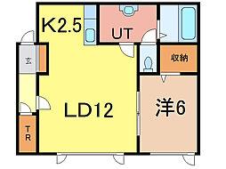 MOMO8・1[2階]の間取り