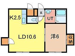 R&MII[1階]の間取り