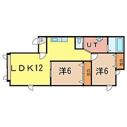 プレザン[2階]の間取り