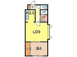 AMU5・23[4階]の間取り