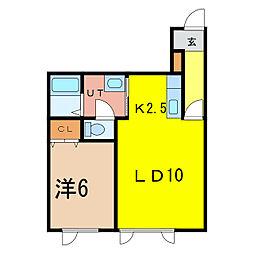 DRY壱番館[1階]の間取り