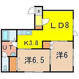 アヴァンティA棟[2階]の間取り