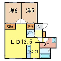 ラフェリオ[2階]の間取り