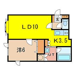 カリオンR[2階]の間取り