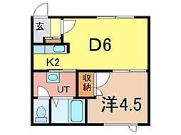 プチメゾン21[1階]の間取り