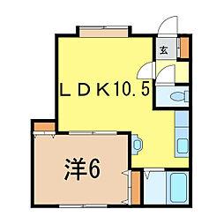 AZ-1[1階]の間取り