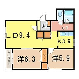 ピュアライフI[2階]の間取り
