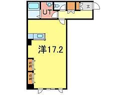 アレナOVEST[3階]の間取り