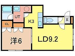 曙プレジデント[1階]の間取り