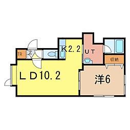 As 〜アズ〜[2階]の間取り