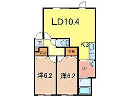 エコワンNEO14[2階]の間取り
