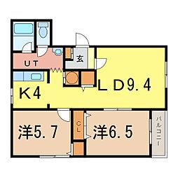 ピュアライフIII[1階]の間取り