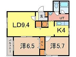 ピュアライフIII[3階]の間取り